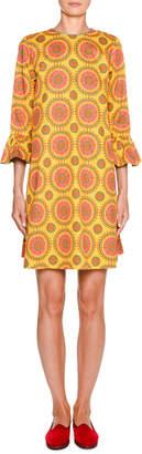 Double J 247 1/2-Sleeve Printed Shift Dress