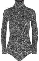 Wolford Cluster Jacquard Turtleneck Bodysuit - Dark gray