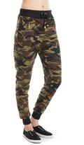 Amazing Woman Camouflage Zipper detail pants Army Waistband Jogger Pants 2 sizes