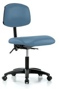 Perch Chairs & Stools Task Chair Upholstery Color: Charcoal Vinyl, Arms: Not Included
