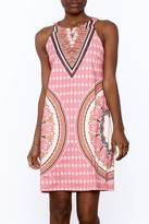 Aryeh Pink Print Sleeveless Dress