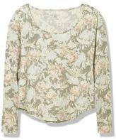 L.L. Bean Signature Cotton/Modal Scoopneck, Long-Sleeve Floral