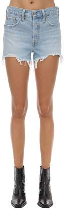 Levi's 501 High Waist Cotton Denim Shorts