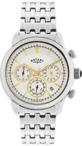 Rotary Gb02876/02 Monaco Chronograph Bracelet Strap Watch, Silver/white