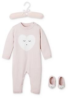 Elegant Baby Girl's Sleepy Heart Coverall & Booties Set, Baby - 100% Exclusive