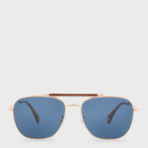 Paul Smith Gold, Forest & Blue 'Roark' Sunglasses