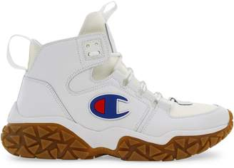Champion Tank Grid Leather Sneakers