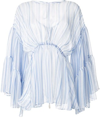 Romance Was Born Louis striped tier blouse