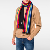 Paul Smith Men's Black Wool Reversible Scarf