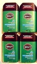 Brut Mens 24 hr Anti-Perspirant/Deodorant Solid Original Scent 2oz-4 Pack