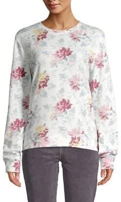 Lucky Brand Floral Fleece Sweatshirt