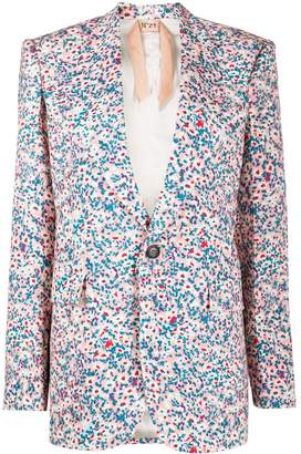 No.21 Floral-Print Blazer