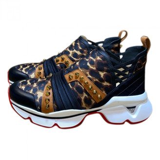 Christian Louboutin Brown Leather Trainers
