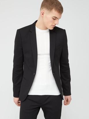 River Island Super Skinny Suit Jacket - Black