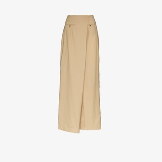 A.W.A.K.E. Mode Asymmetric Wool Skirt