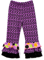 Flap Happy Wisteria Wave Triple Ruffle Pants - Infant, Toddler & Girls
