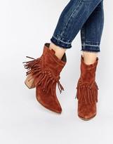 Aldo Kycia Rust Pull On Calf Block Heel Boots