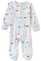 Angel Dear Baby Boys Newborn-6 Months Colorful Construction Printed Footed Coverall