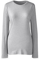 Classic Women's Plus Size Shaped Layering Crewneck T-shirt Gray Heather