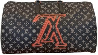 Louis Vuitton Keepall Blue Cloth Bags
