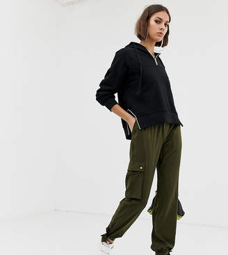 NA-KD Na Kd cargo trousers with side pocket detail in khaki-Green