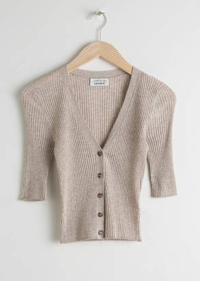 And other stories Fitted Cotton Blend Cardigan