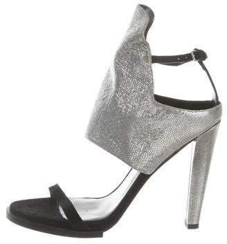 Alexander Wang Textured Metallic Sandals