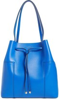Tory Burch 'Block-T' Leather Drawstring Tote