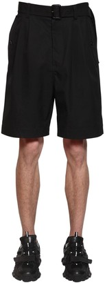 Juun.J Cotton Canvas Shorts W/ Belt