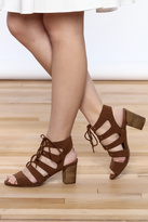 Restricted Brown Lace-Up Sandal