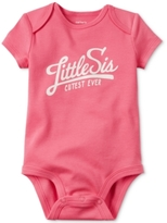 Carter's Little Sis Cutest Ever Bodysuit, Baby Girls (0-24 months)