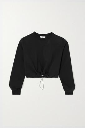 Frankie Shop Vanessa Cropped Cotton-terry Sweatshirt