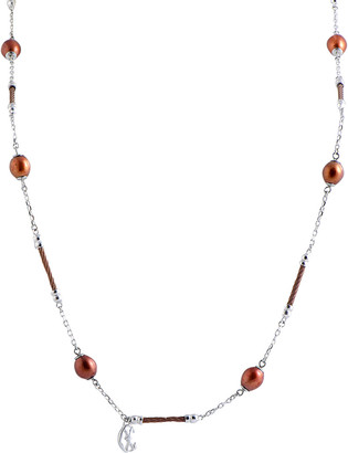 Charriol Stainless Steel Pearl Necklace