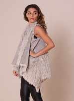 Missy Empire Kinga Grey Reversible Fluffy Gilet