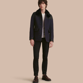 Burberry Pea Coat with Detachable Shearling Topcollar