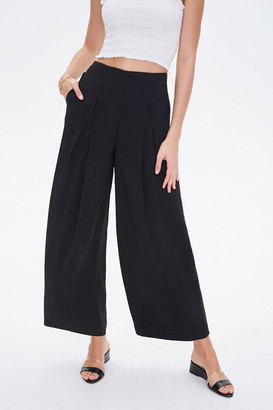 Forever 21 Inverted-Pleat Wide Leg Pants