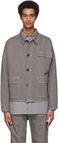 Robert Geller Grey and Off-White Striped Three-Pocket Jacket