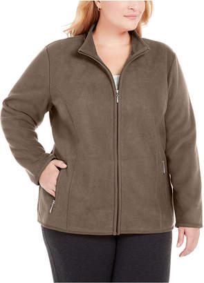 Karen Scott Plus Size Zip-Front Jacket