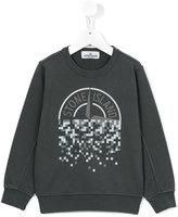 Stone Island Junior - logo print sweatshirt - kids - Cotton - 6 yrs