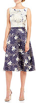 Eva Franco Jacquard Pop Over Top And Skirt Two Piece Set