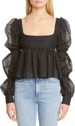 Brock Collection Cinched Puff Sleeve Top