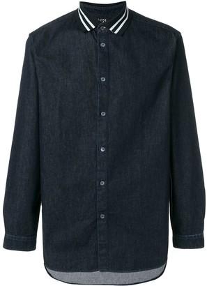 No.21 Polo Collar Chambray Shirt