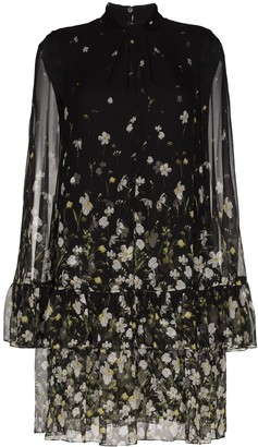 Erdem Concetta tiered hem cape dress
