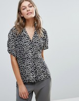 Selected Celiva Printed Silk Blouse
