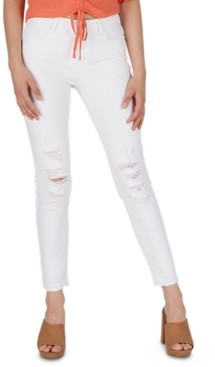 Numero Mid-Rise Distressed Skinny Jeans