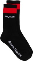 Alexander McQueen Striped Knitted Socks