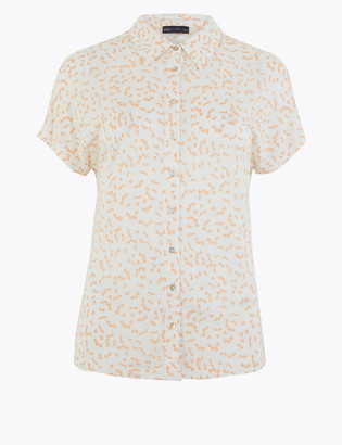 Marks and Spencer Jersey Printed Short Sleeve Shirt