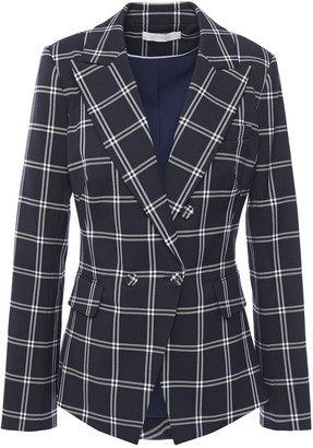 Jonathan Simkhai Double-breasted Checked Twill Blazer