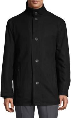 London Fog Wool-Blend Car Coat