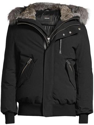 Mackage Dixon Fox & Rabbit Fur-Trimmed Bomber Jacket